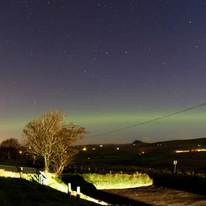 The Aurora Borealis pictured near Ballyclare - by Ben Tucker. November 2017
