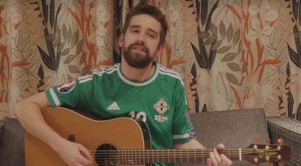 Northern Ireland fan Paul Hughes has written new lyrics for the Northern Ireland team.