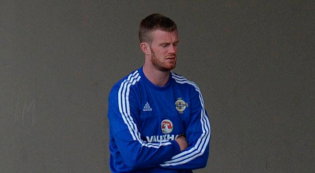 Frustration: Chris Brunt on the sidelines at the Euros in 2016