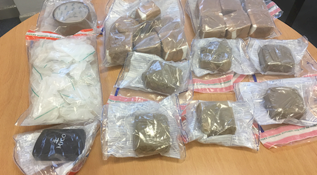 Some of the drugs seized by the police. (PSNI website)