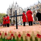 Fitting tribute: veterans visiting the Field of Remembrance at Westminster Abbey