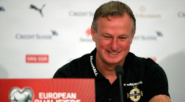 Northern Ireland manager Michael O'Neill during the press conference at St Jakob Park, Basel. Pic: Nick Potts/PA Wire
