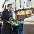 Pacemaker Belfast 12/11/2017 Taoiseach Leo Varadkar at the Remembrance Sunday ceremony in Enniskillen. Picture: Ronan McGrade/Pacemaker