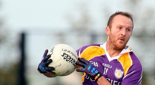 Target man: Paul Ward hit six points for Derrygonnelly