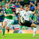 Germany's Leon Goretzka (right) could be set for a switch to Liverpool. (Photo by Kevin Scott / Belfast Telegraph)