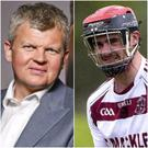 Adrian Chiles had been doing a bit of training with Ulster Hurling Champions Slaughtneil.
