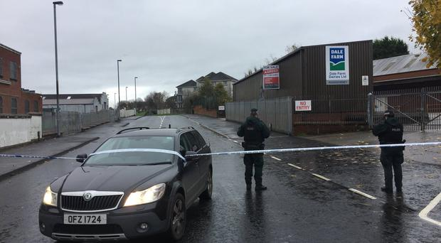The scene of the security alert in Londonderry / Credit: Gary Middleton