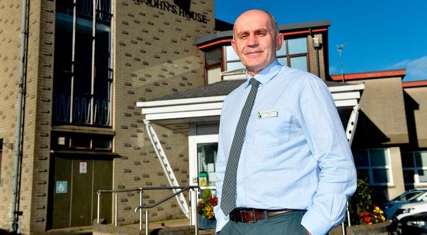 Rev Graham Stockdale is devoted to his work at the Newry Hospice