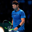 Painful early exit: Rafa Nadal has pulled out after his knee injury flared up during his loss to David Goffin