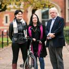 Pictured (L-R) Shannon Yee, Sinéad O'Donnell and Professor Piers Hellawell.