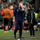 Republic of Ireland manager Martin O'Neill came in for criticism just three days after being praised for a staunch defensive display in Copenhagen.