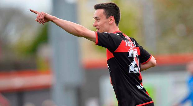 Goal ace: Paul Heatley has given Linfield problems this season