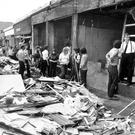The scene on Bloody Friday after the IRA set off 20 bombs in Belfast on July 21, 1972