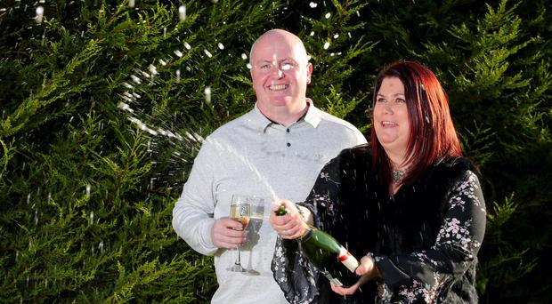 Lottery winners Catherine and Ciaran Kidd from Draperstown