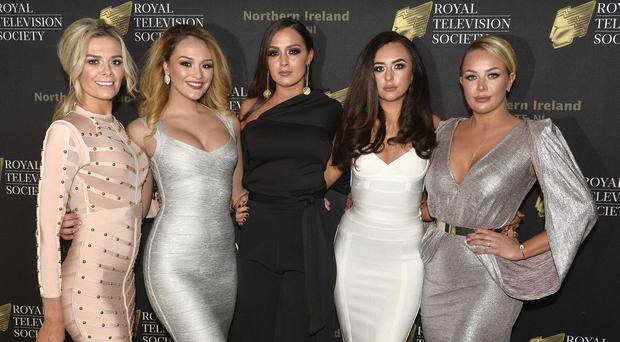 Orla McAllister, Shleigh Coyle, Rebecca Maguire, Amira Graham and Gemma Garrett pictured at the Royal Television Society awards at The Mac in Belfast / Credit: Presseye /Stephen Hamilton