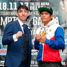 Raring to go: Jamie Conlan and World champion Jerwin Ancajas