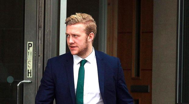 Ulster and Ireland rugby player Stuart Olding at Laganside Courts. Picture Matt Bohill