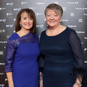 Northern Ireland Chamber of Commerce Presidents Ball. Chief executive Ann McGregor and president Elvena Graham. Photograph by Declan Roughan