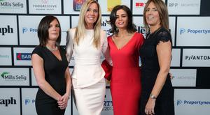 Press Eye - Belfast - Northern Ireland - 17th November 2017 Samantha Shannon, Judy Atkinson, Naomi Traynor Bronagh Boyd pictured at the Belfast Telegraph Property Awards 2017. Photo by Kelvin Boyes / Press Eye.