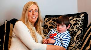 Angela Haughey and son Charlie