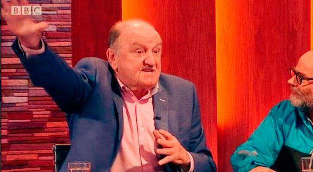 George Hook appears on the BBC's Nolan Live show with Malachi O'Doherty