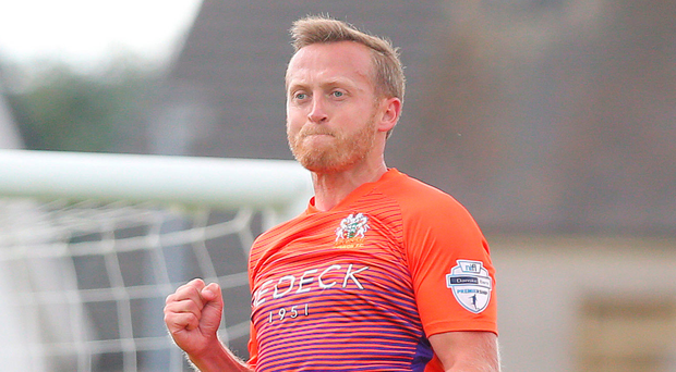Clinical: Glenavon midfielder and penalty king Sammy Clingan is enjoying his hot scoring streak