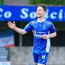 Massive game: Dungannon Swifts midfielder Ryan Mayse