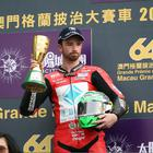 PACEMAKER, BELFAST, 18/11/2017: A sombre race winner, Glenn Irwin (PBM/Be Wiser Ducati) on the Macau Grand Prix podium in China today after the race had been cut short and overshadowed by the death of another competitor, Dan Hegarty. PICTURE BY STEPHEN DAVISON