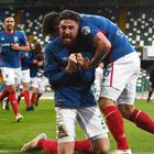 Linfield's Mark Stafford celebrates after scoring against Coleraine at Windsor Park. Photo Colm Lenaghan/Pacemaker Press