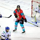 Press Eye - Belfast - Northern Ireland - 14th October 2017 - Photo by William Cherry/Presseye Belfast Giants /new player Matt Bissonnette during Saturday nights Challenge Cup game at the SSE Arena, Belfast.
