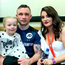 Family matters: Carl with wife Christine and daughter Carla after his fight with Horacio Garcia at the SSE Arena