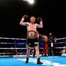 Great fit: Paddy Barnes with the WBO inter-continental belt