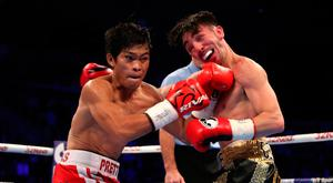 Pain game: Jamie Conlan soaked up a lot of punishment in his defeat to Jerwin Ancajas on Saturday