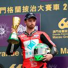 Sad day: Glenn Irwin won the Macau Grand Prix but the victory was overshadowed by a crash in which Dan Hegarty was killed