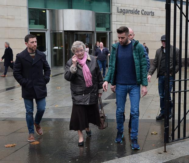 Family and friends of Marion Millican leave Laganside Court