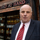 Willie Jack outside The Friend at Hand in Belfast's Cathedral Quarter