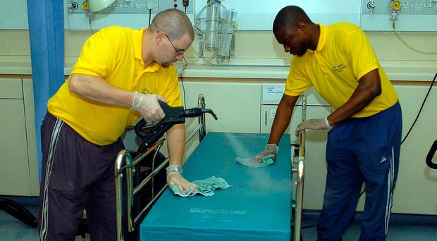 Outsourcing services like hospital cleaning can be of benefit, but there are drawbacks
