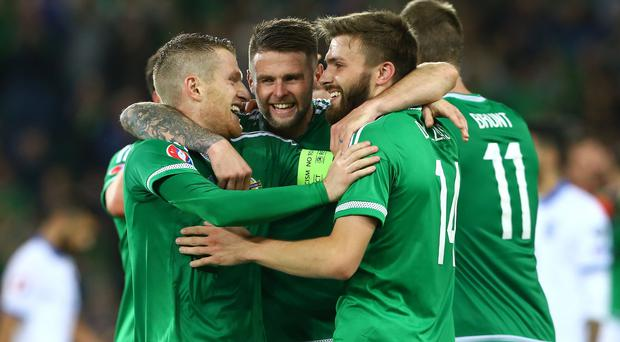 Pride of place: The Northern Ireland football team