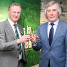 Cheers: Pat Jennings believes Michael O'Neill would be a success at West Brom, who are looking for a new manager after sacking Tony Pulis