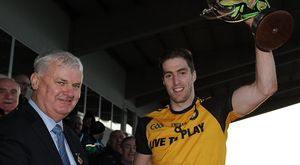 Prize guy: Ulster ace Eoin Donnelly lifts the Railway Cup after last year's triumph over Connacht