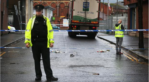 A street in Belfast city centre has been cordoned off after a woman was seriously injured in a rush-hour accident. / Credit: Pacemaker.