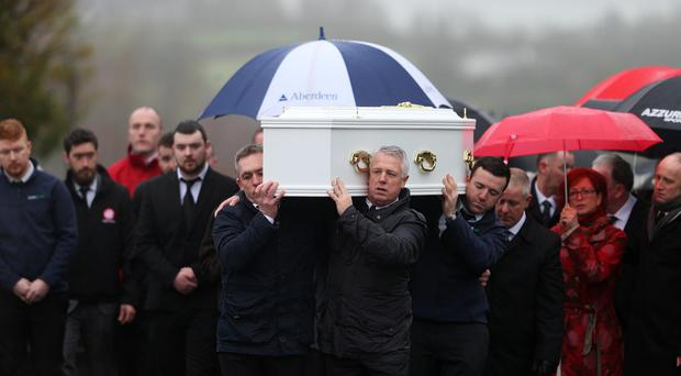 The funeral of Nicole Fegan in Mayobridge, Co Down. Nicole died in a beach buggy accident last weekend.