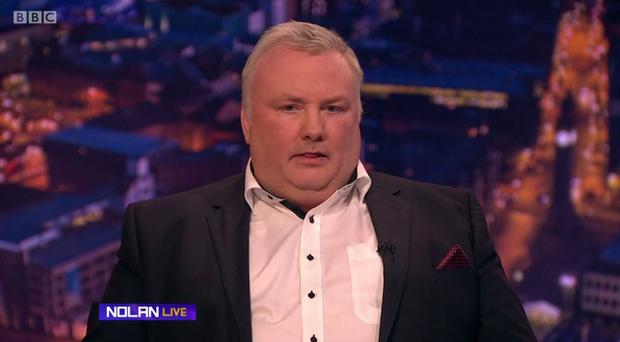 Nolan went off script to reveal he had been scammed during the show.