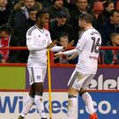 Fulham's Ryan Sessegnon (left) has again been linked with a move away from the club.