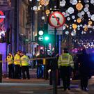 Police set up a cordon outside Oxford Circus underground station as they respond to an incident in central London on November 24, 2017. Pic Wires