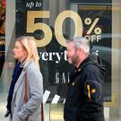 Shoppers in Belfast city centre during the Black Friday sales