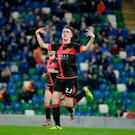 In form: Gavin Whyte is out to stop Coleraine in their tracks