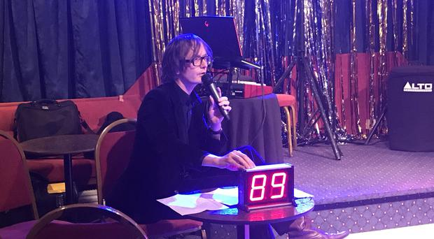 Jarvis Cocker appearing at the Ulster Maple Leaf Sports and Social Club / Credit: Laure James