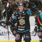Hi ho Silve: Sebastien Sylvestre celebrates his last-gasp equaliser for the Giants in Cardiff, before they won the game in a penalty shoot-out