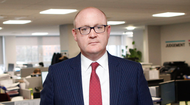 Stephen Felle in the Belfast offices of Davy Private Clients